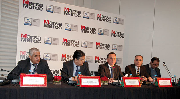 Le président du directoire de Marsa Maroc, Mohamed Abdeljalil, intervenant lors de l'obtention des certifications ISO 9001 version 2008 des activités «Conteneur» et «trafic voiturier» du port de Casablanca et les activités au port de Safi.