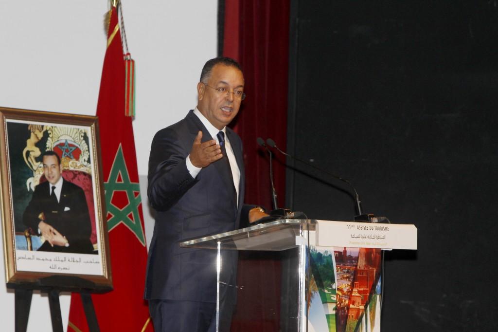 Lahcen Haddad, le ministre du Tourisme, lundi à Rabat, aux Assises du secteur./MAP