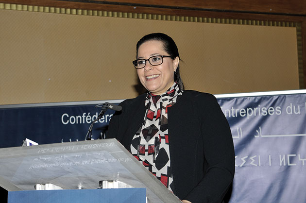 Miriem Bensalah-Chaqroun, présidente de la Confédération Générale des Entreprises du Maroc (CGEM)