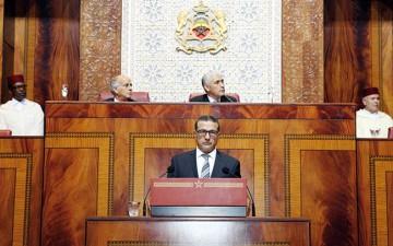Mohamed Boussaid, ministre de l'Economie et des Finances au Parlement.