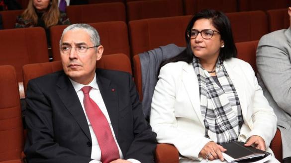 Mohammed Kettani PDG d'Attijariwafa bank, Zahra Maafiri Directrice de Maroc Export