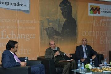 Redouan Mfaddel, économiste, juriste et chroniqueur, Larabi Jaïdi, Enseignant-chercheur à l'Université Mohammed V de Rabat, Jean-Pierre Chauffour, Économiste principal pour la région MENA à la Banque mondiale.