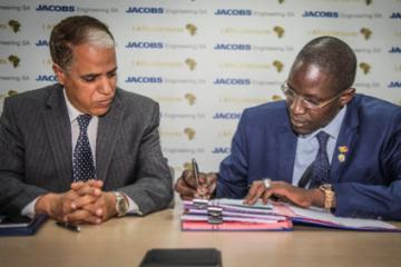 M. Moctar Diagne, PDG de I-Africa Ventures et M. Abdelaziz El Mellah, Directeur Général de Jacobs Engineering S.A