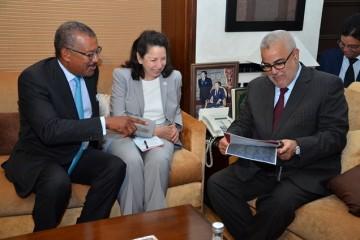 M. Benkirane s'entretient avec la Directrice générale adjointe du MCC, Mme Nancy Lee