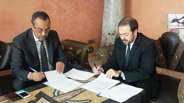 Ynja Khattat, président de la région Dakhla-Oued Eddahab  et Hamid Addou: PDG de la Royal Air Maroc