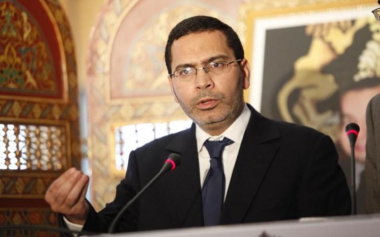 Mustapha EL Khalfi, ministre de la communication , porte parole du gouvernement marocain