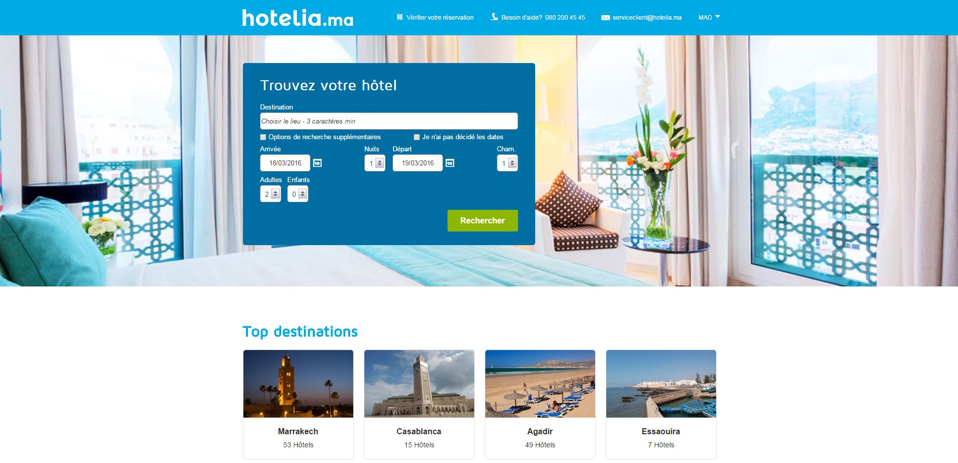 Innove et se veut mobile friendly avant l for Plateforme reservation hotel