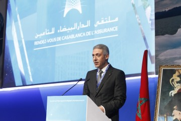 Mohamed Hassan Bensalah, Président de la FMSAR lors de l'ouverture de la 3ème édition du rendez-vous  de Casablanca des Assurances.