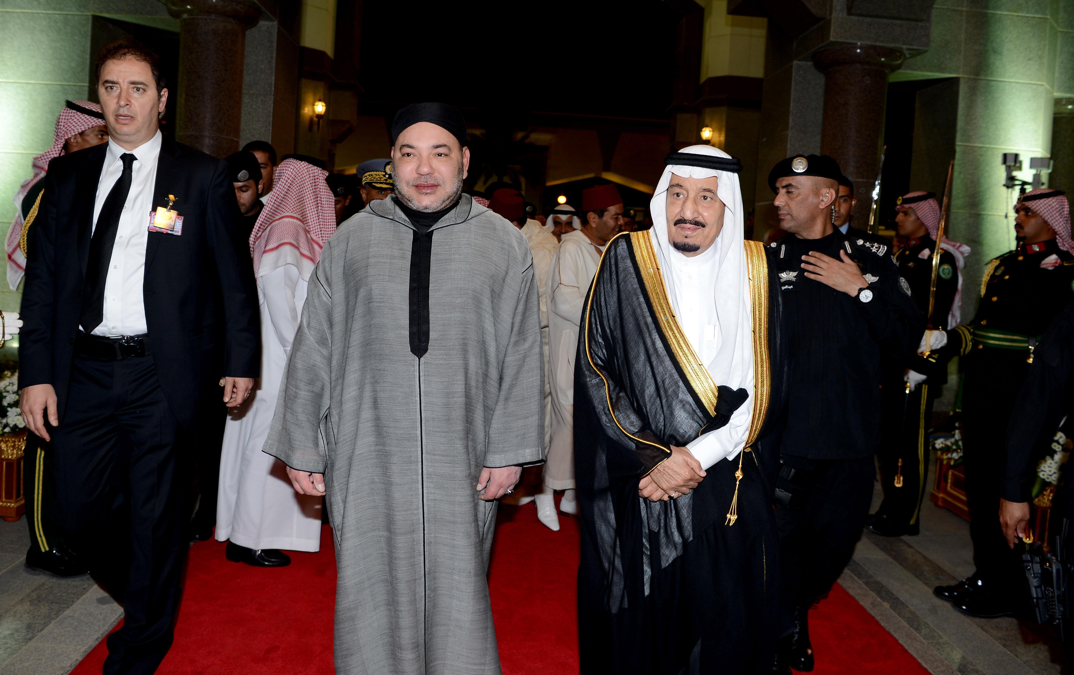SM le Roi en compagnie du Roi Salman à l'ouverture du Sommet Maroc-Pays du Golfe