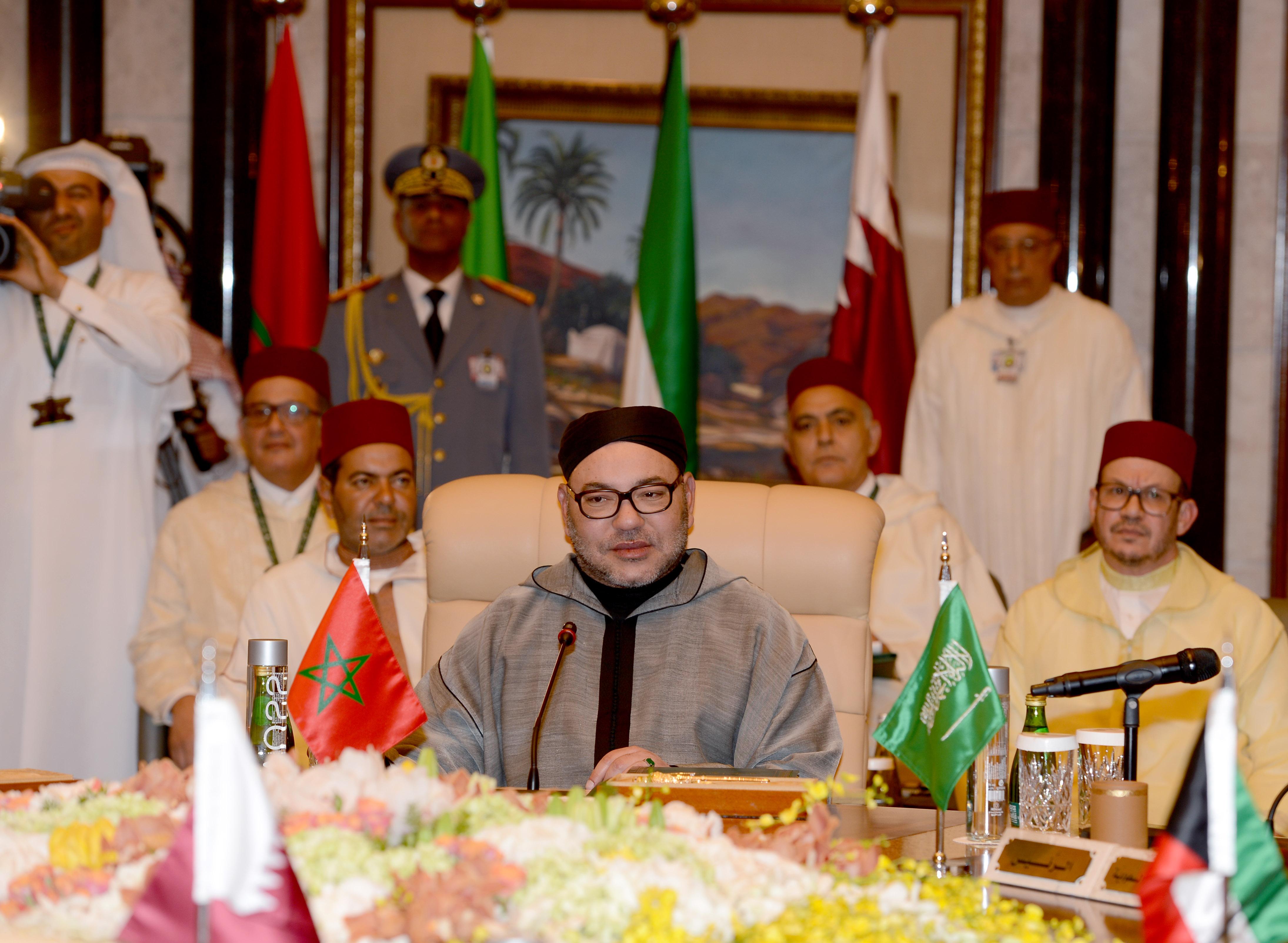 SM le Roi Mohammed VI prononce un discours devant le Sommet Maroc-Pays du Golfe