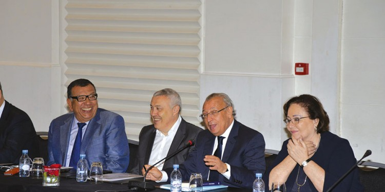 kamal Lahlou, Thami Ghorfi et Mohamed Benamour et Mme Sijilmassi.