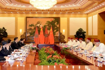 Entretiens élargis à Pékin entre SM le Roi et le Président de Chine