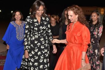 Arrivée à Marrakech de la Première Dame des Etats-Unis Michelle Obama