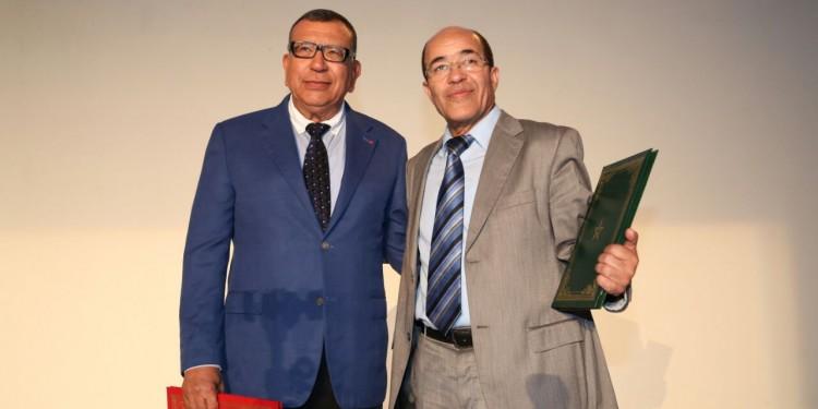 M. Kamal Lahlou président de la CARTI et M. Belghouat directeur de l'ISMAC