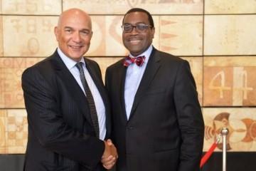Le PDG du groupe OCP a reçu Akinwumi Ayodeji Adesina, président de la BAD en marge de savisite de travail au Maroc.