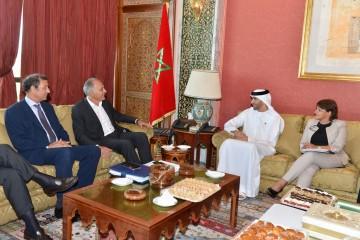Salaheddine Mezouar, s'entretient à Rabat avec le ministre Emirati du Changement climatique et de l'Environnement