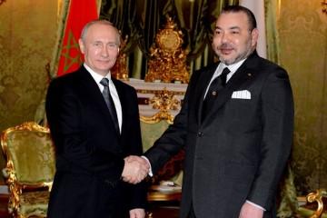 Le président russe Vladimir Poutine recevant SM le Roi Mohammed VI le mardi 15 mars au Kremlin.