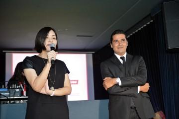 Icey Bin, Marketing Manager de la marque Innjoo, et Amine Benlamlih cofondateur de Maroc Axess et Directeur général Adjoint du groupe ICD.