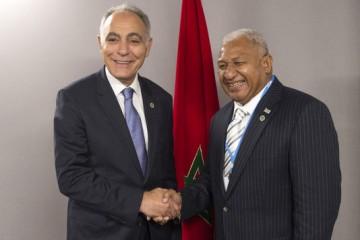 Frank Bainimarama, Premier ministre fidjien et Salaheddine Mezouar Président de la COP22