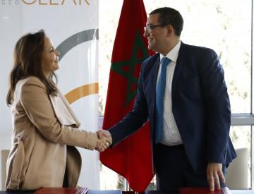 Fathïa BENNIS, Président Directeur général de Maroclear et Larbi Benrazzouk, Directeur général de Maroc PME.