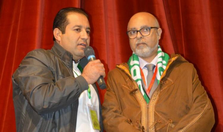 Mohamed Hamane, à droite
