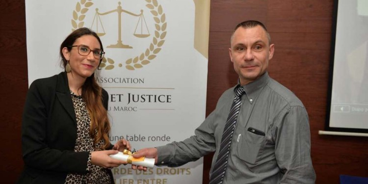 Tasnim Khalladi, Digital Manager à New Publicity et Stépahne Vabre, SG de l'Association Droit et Justice au Maroc