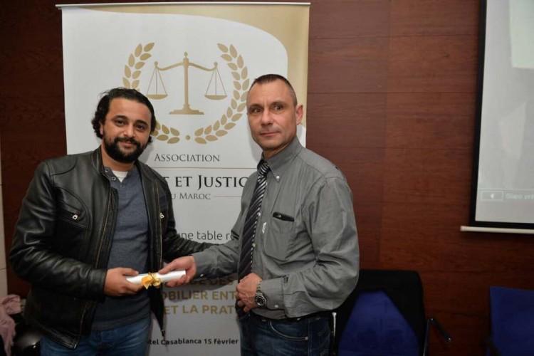 Maaelaynayne Inani, journaliste à MFM Radio et Stépahne Vabre, SG de l'Association Droit et Justice au Maroc
