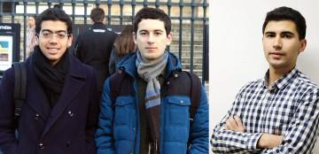 Mohammed Amine Bennouna, Omar Mouchtaki et El Ghali Zerhouni, co-fondateurs de Math&Maroc.
