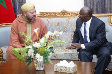 Le Roi Mohammed VI et le président de la République du Ghana, Nana Akufo-Addo
