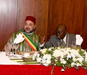 SM le Roi Mohammed VI et Nana Akufo-Addo, président du Ghana.