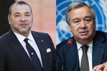 Mohhamed VI et Antonio Guterres