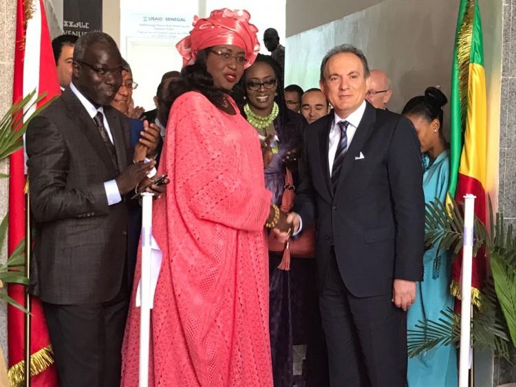 Maimouna Ndoye Seck, ministre sénégalaise du Tourisme et des Transports Aériens et Abderrafie Zouiten, DG de l'ONMT.