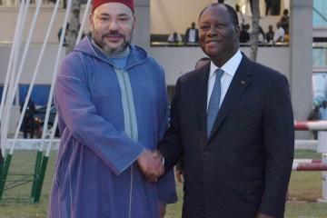SM Mohammed VI et Alassane Ouattara, président de la Côte d'Ivoire