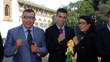 De gauche à droite : Kamal Lahlou, Mohamed Rabii et Nawal El Moutawakel.