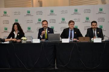 Meryem Kabbaj, directrice de la Banque Privée de la BMCI, Laurent Dupuch, président du directoire de la BMCI, Rachid Marrakchi, DG de la BMCI et Idriss Bensmail, directeur du Corporate Banking de la BMCI