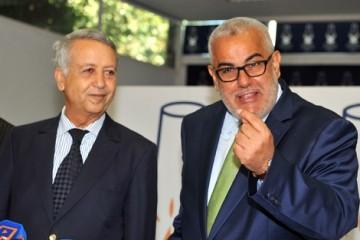 Mohammed Sajid, secrétaire général de l'UC et Abdelilah Benkirane, chef du gouvernement