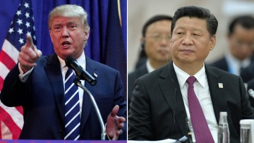 Donald Trump, président des Etats-Unis et Xi Jinping, président de la République populaire de Chine  @CNN
