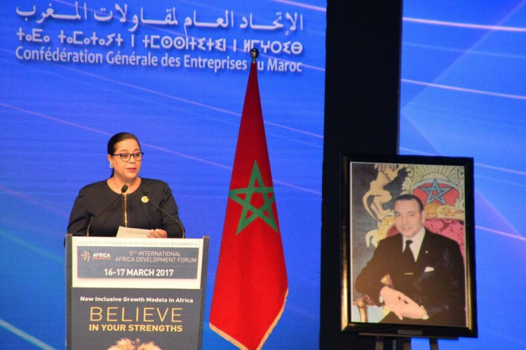 Miriem Bensalah-Chaqroun, présidente de la CGEM