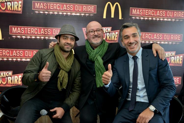 Miz, humoriste, Oscar Sisto, professeur de théâtre et Driss El Alamy, DG de McDonald's Maroc