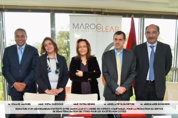 Membres de l'Ordre des Experts-Comptables en compagnie de Fathia Bennis, PDG de Maroclear