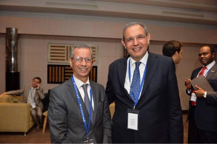 Ahmed Rahhou, PDG du CIH et Karim Hajji, DG de la Bourse de Casablanca