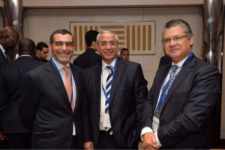 Saïd Brahimi, DG de Casablanca Finance City, Khalid Cheddadi, PDG de la CIMR et Ali Harraj, PDG de Wafa Assurance