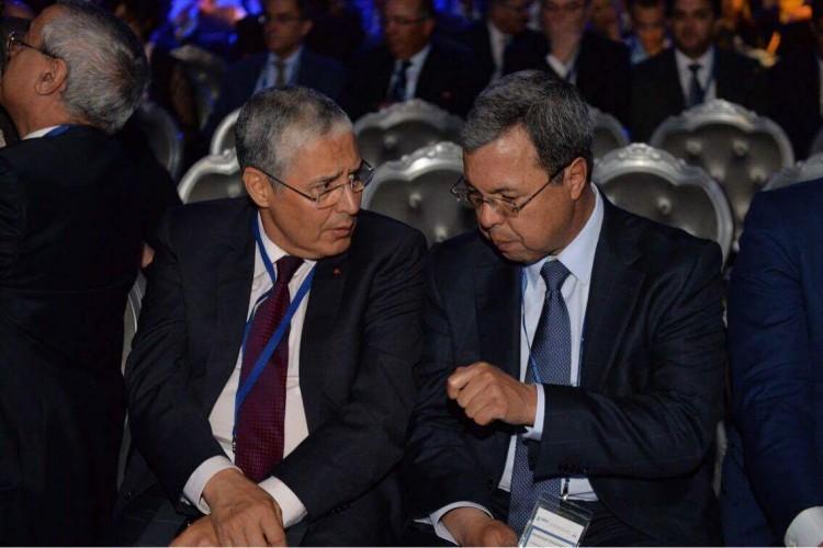 Mohamed El Kettani, PDG de Attijariwafa bank et Abdellatif Zaghnoun, DG de la CDG