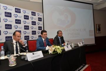 Mahmoud Oudrhiri, directeur général délégué Gestion et Support , Jalil Skali, directeur général et Anass Moutaoukil, DGA de Dolidol