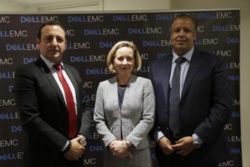 Ahmed Khalil, DG Afrique du Nord & de l'Ouest, Margaret Franco, 1ère vice-présidente principale Marketing Europe Moyen-Orient et Afrique de Dell EMC et Driss Elougmani, vice-président de META CGN