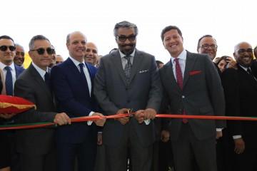 De gauche à droite : Bachi Spiga, directeur des opérations MENA de DHL Express, Jawad Ouaziz, directeur général de DHL Express Maghreb,  Nour Suliman, PDG de DHL Express MENA et Faysal El Hajjami,  Country General Manager de DHL Express Arabie Saoudite