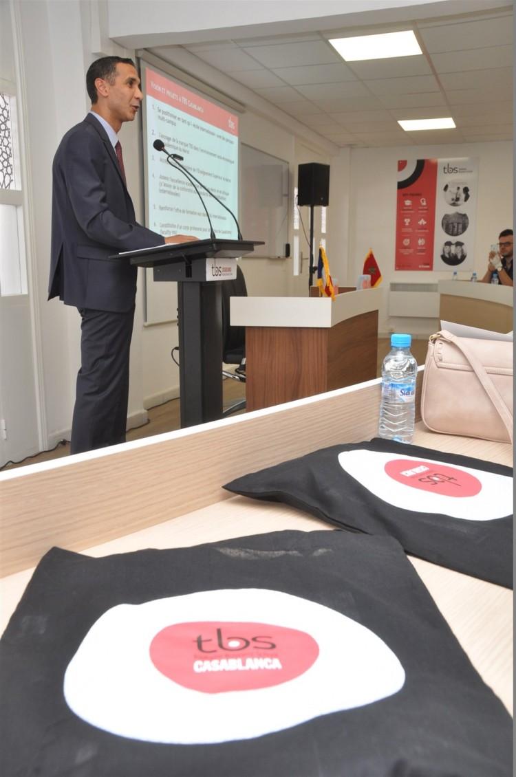 Mohamed Derrabi, directeur du campus TBS Casablanca et François Bonvalet, DG de TBS