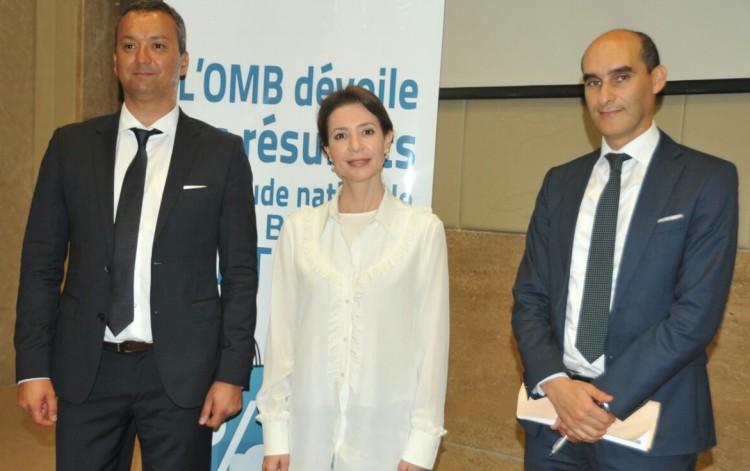 Bachir Aïnad, Managing Partner d'OpinionWay, Fatima Zahra Bensalah, présidente et Achraf Ftouhi, conseiller chargé des études et recherches de l'OMB