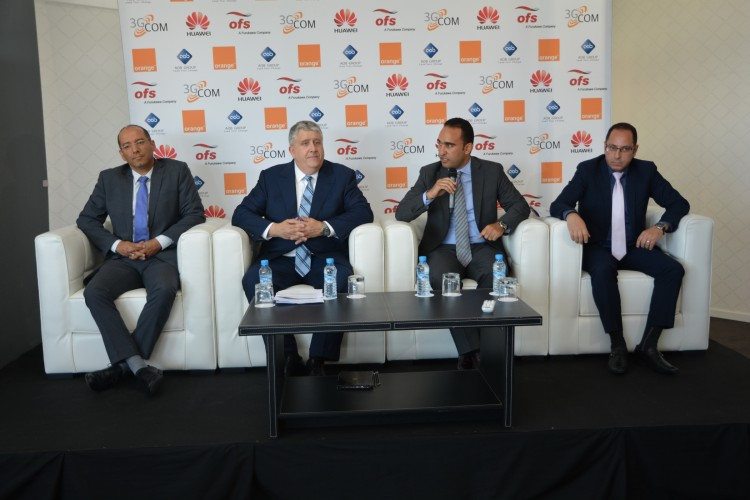 Noureddine Chikhaoui, Key Account Manager de 3G Com, Jacques Fiorella, DG de OFS Optics, Fayssal Soulaymani, directeur Business Unit Fixe de Orange Maroc et Chakib Achour, Senior Marketing & Business Development Manager de Huawei