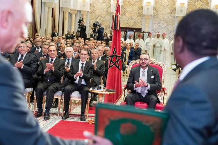 SM le Roi Mohammed VI a présidé, lundi 15 mai 2017 au Palais Royal à Rabat, la cérémonie de signature d'accords relatifs au projet du Gazoduc Nigéria-Maroc et à la coopération maroco-nigériane dans le domaine des engrais.